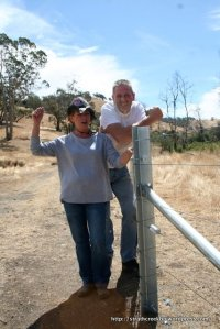 New Landcarers Wayne and Pam Watson complete 650m of fencing along their creek